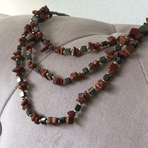 NEW| Multi Strand Precious Stones Necklace